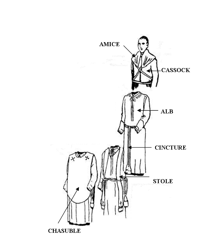 how to put on an amice